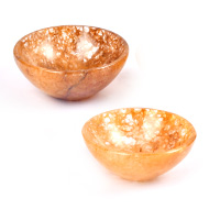 Yellow Aventurine Gemstone Bowls - Set of 2
