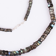 Labradorite Neckalce - Washer shape beads - 8 mm