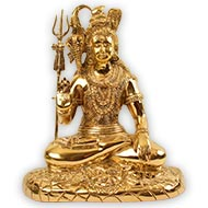 Blessing Shiva in brass