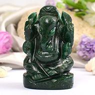 Green Jade Ganesha - 112 gms