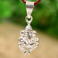 Ganesh Locket - in Pure Silver - Design XVII