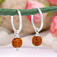 Rudraksha Earrings Set - I
