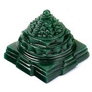 Shree Yantra in Columbian Green Jade - 186 gms