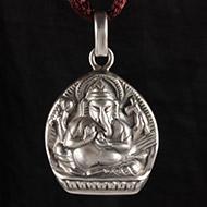 Ganesh Locket - in Pure Silver - Design IV
