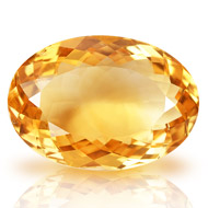 Yellow Citrine - 15.50 carats - Oval