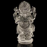 Ganesh Idol in pure quartz - 268 gms