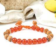 Orange Carnelian and White Sandal bracelet