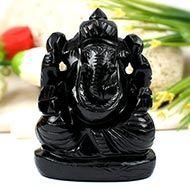 Obsidian Ganesha - 311 gms