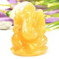 Yellow Jade Ganesh - 122 gms