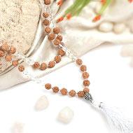 Sphatik and Rudraksha Beads Mala