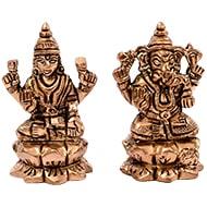 Ganesh Lakshmi Idol in Brass