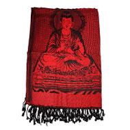 Lord Buddha Shawl in Soft Jacquard Fabric