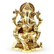 Mahaganapati in Brass - Small