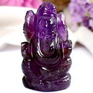 Ganesha in Amethyst - 21 gms - I