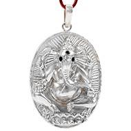 Titawala Ganesh and Hanuman pendant in Pure Silver