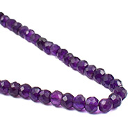 Amethyst Faceted Mala - 5mm