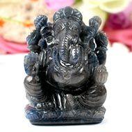 Ganesha in Blue Sapphire - 934 Carat