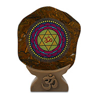 Shree Mahasudarshan Yantra on Tiger Eye