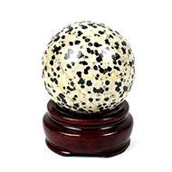 White Snowflake Obsidian Ball