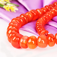 Red Carnelian Necklace - Elliptical Beads
