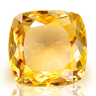 Yellow Citrine - 5 to 6 carats - Square Cushion
