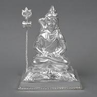 Meditation Mudra Shiva pure silver - II