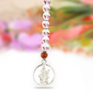 Hanging Saraswati Yantra - Silver