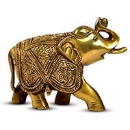 Designer Elephant In Brass - Small