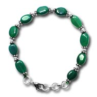 Green Onyx Oval Bracelet - 8mm - Design I