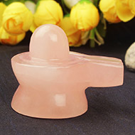 Rose Quartz Shivling -  122 gms