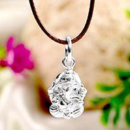 Ganesh Locket in Pure Silver - Design XXXVIII