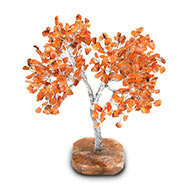 Natural Orange Jade Chakra Vastu Tree - Big