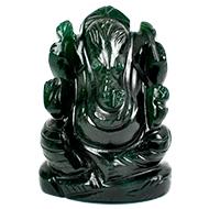 Green Jade Ganesha - 123 gms