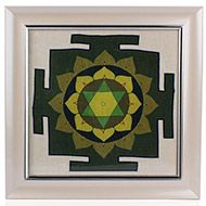 Vishnu Yantra on silk with frame