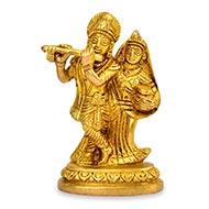 Radha Krishna Idol in Brass