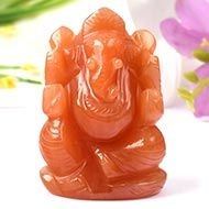 Red Jade Ganesha - 103 gms