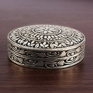 Pure Silver Container - Round