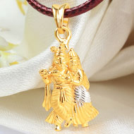 Radha Krishna Locket in pure Gold - 3.56 gms