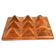 9 Pyramid Copper Plate