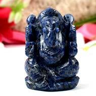 Blue Sodolite Ganesha - 115 gms
