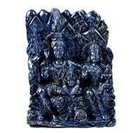 Shiv Parivar in Blue Sodolite - 10770 gms