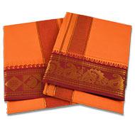 Orange Puja Dhoti