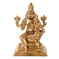 Lakshmi Narsimha Idol in Bronze