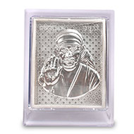 Lord Sai Baba silver frame