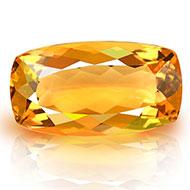 Yellow Citrine - 6.80 carats - Cushion