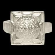 Shree Yantra Meru  Ring in Silver