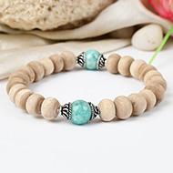 Amazonite and Tulsi beads Bracelet