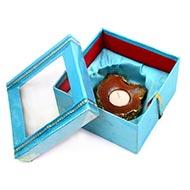 Creative Agate Gemstone Diya with wax candle