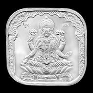 Shree OM Swastik Subh Labh Laxmi Square Shape Pure Silver Coin