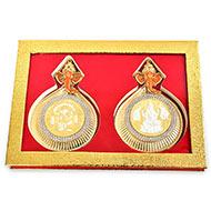 Ganesh Gajalakshmi silver coin - I